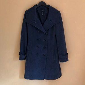 Forever 21 dark gray mid length coat Size L
